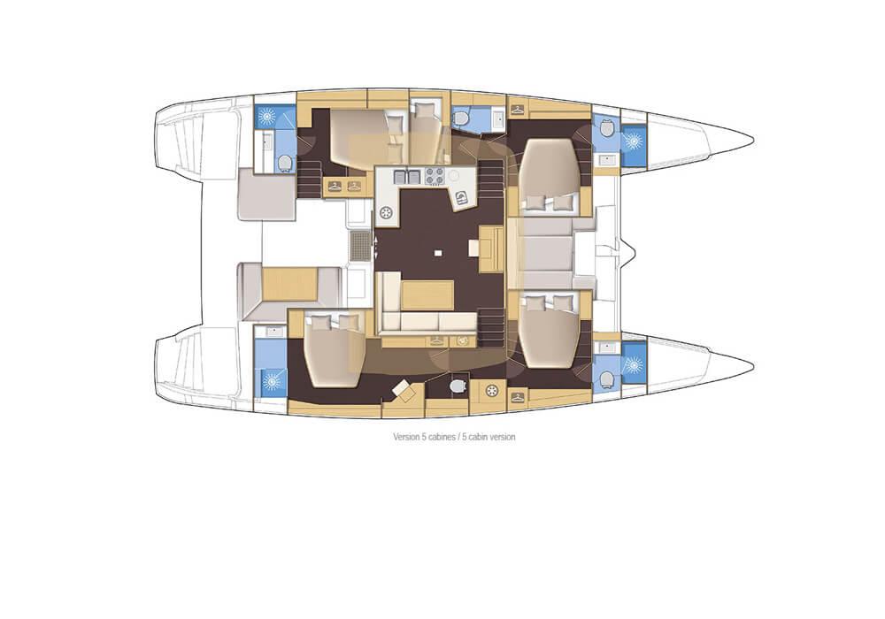 Lagoon 52 Fly (2017) - Catamaran Charter Croatia