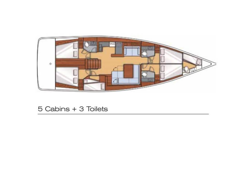 Beneteau Oceanis 55 (2013) - Yacht Charter Croatia