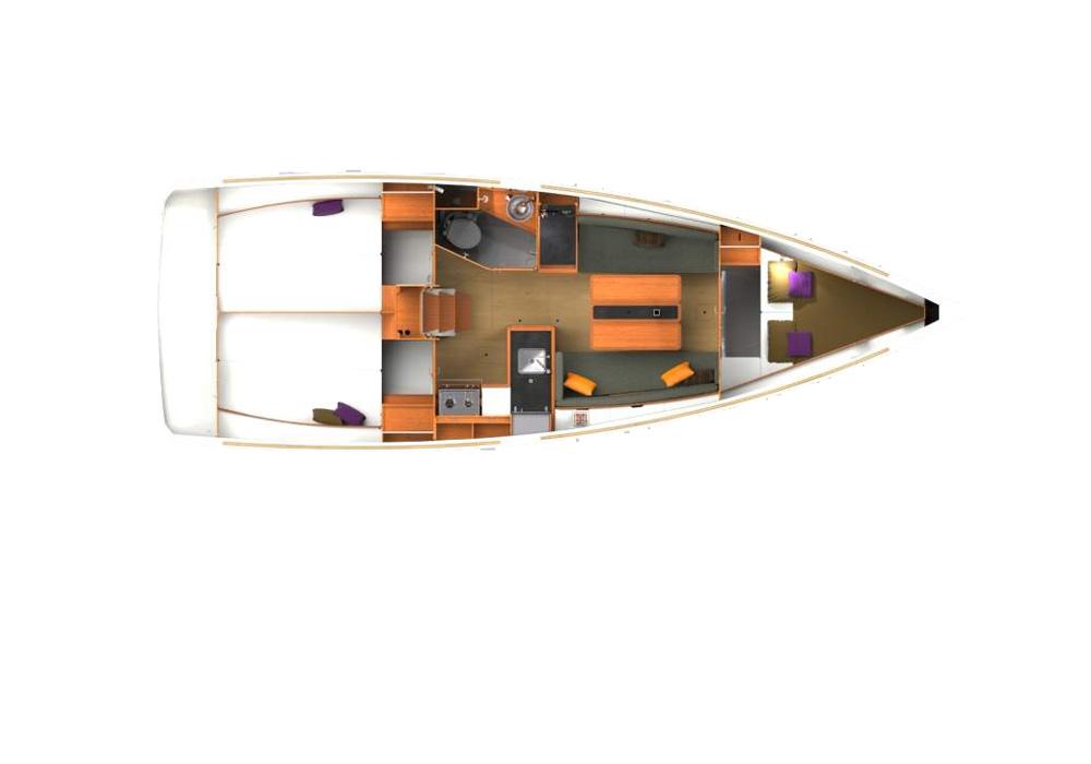 Jeanneau Sun Odyssey 349 (2018) - Yacht Charter Croatia